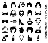 glamour icons. set of 25... | Shutterstock .eps vector #791499535