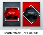 brochure template layout design.... | Shutterstock .eps vector #791500531