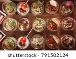 buffet catering  on the table. | Shutterstock . vector #791502124