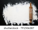 White Flour With A Rolling Pin...