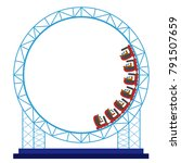 roller coaster on a white... | Shutterstock .eps vector #791507659