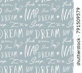 bed linen design pattern.... | Shutterstock .eps vector #791509579