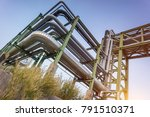 pipe rack  oil and gas refinery