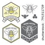 Organic Honey Logo Set