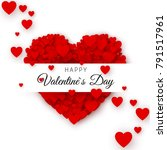 happy valentine s day greeting... | Shutterstock .eps vector #791517961