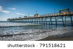 Bogue Inlet Pier With Blue...