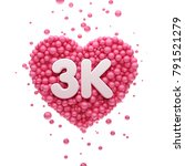 3k or 3000 followers thank you... | Shutterstock . vector #791521279