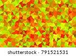 dark red  yellow vector blurry... | Shutterstock .eps vector #791521531