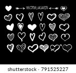 collection of hand sketched...   Shutterstock .eps vector #791525227