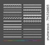 design elements   borders rules | Shutterstock .eps vector #791526805