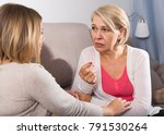 sappy daughter supports her... | Shutterstock . vector #791530264