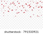 many falling luxury red... | Shutterstock .eps vector #791533921