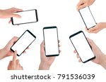 smartphone mock up  hand... | Shutterstock . vector #791536039