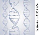 dna helix   gene sequencing and ... | Shutterstock . vector #791536834