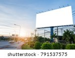 billboard blank for outdoor... | Shutterstock . vector #791537575