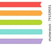bookmark vector set isolated on ... | Shutterstock .eps vector #791539051