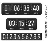 countdown timer. vector. | Shutterstock .eps vector #79154767