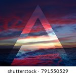 nature in twilight period ... | Shutterstock . vector #791550529