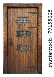 Medieval Style Door Isolated O...