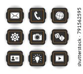 12 vector icons  buttons  set....