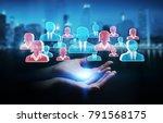 businesswoman on blurred... | Shutterstock . vector #791568175