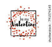 valentines day card with red...   Shutterstock .eps vector #791574145