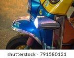 tuk tuk classic taxi in bangkok  | Shutterstock . vector #791580121