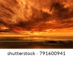 magic dramatic unreal  sunset... | Shutterstock . vector #791600941