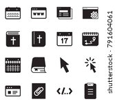 solid black vector icon set  ... | Shutterstock .eps vector #791604061
