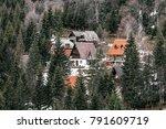 rural village houses in green... | Shutterstock . vector #791609719