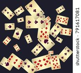 casino. playing cards are... | Shutterstock .eps vector #791617081