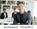 smiling confident executive in... | Shutterstock . vector #791618917