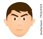 avatar of a angry man  vector... | Shutterstock .eps vector #791619319