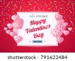discount banner template for st.... | Shutterstock .eps vector #791622484
