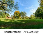 sunny day in summer park with... | Shutterstock . vector #791625859