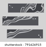 abstract banner template with... | Shutterstock .eps vector #791626915