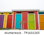 Small photo of Newfoundland, Canada - Colourful beach houses dotting the landscape in the Maritime provinces of eastern Canada.