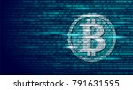 bitcoin digital cryptocurrency... | Shutterstock .eps vector #791631595