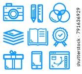 set of design line icons for... | Shutterstock .eps vector #791636929