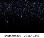 blue flying musical notes... | Shutterstock .eps vector #791642341