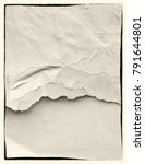 blank creased crumpled paper... | Shutterstock . vector #791644801