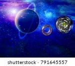 multigenerational interstellar... | Shutterstock . vector #791645557