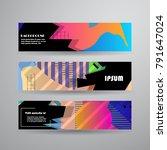 vector abstract design banner.... | Shutterstock .eps vector #791647024