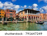 fish market on grand canal in... | Shutterstock . vector #791647249
