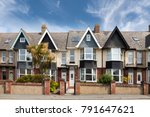 english street of terraced... | Shutterstock . vector #791647621
