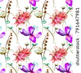 seamless pattern with... | Shutterstock . vector #791647981