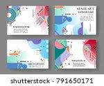 horizontal a4 modern abstract... | Shutterstock .eps vector #791650171