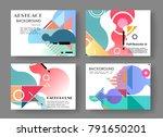 horizontal a4 modern abstract... | Shutterstock .eps vector #791650201