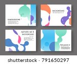 horizontal a4 modern abstract...   Shutterstock .eps vector #791650297