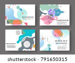 horizontal a4 modern abstract... | Shutterstock .eps vector #791650315